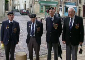 Veterans from the British beaches