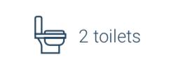 property 2 toilets
