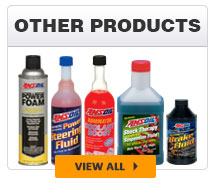 brake fluid; power steering fluid; suspension fluid; antifreeze; engine coolants; cleaners; firearm lubricants and cleaners; air tool oil;