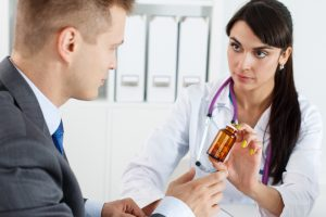 review the health care provider's physical examination