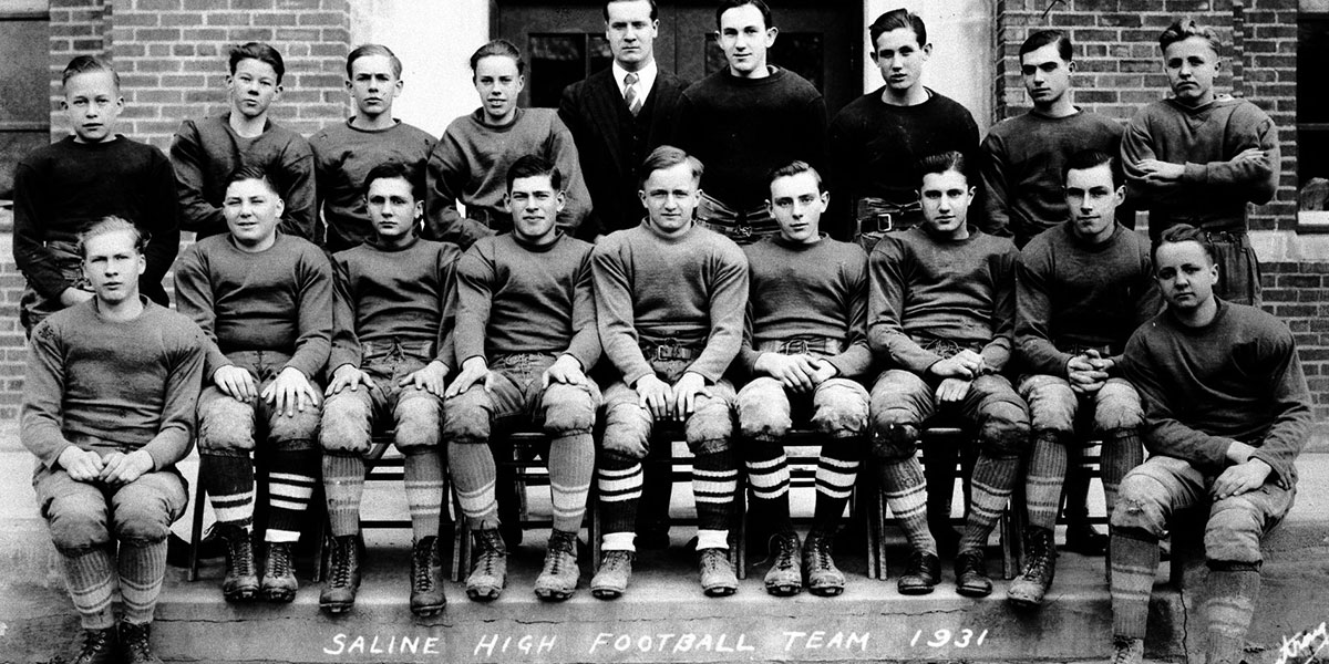 Saline High football team 1931