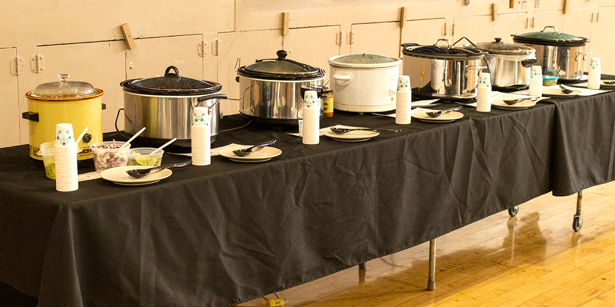 Chili contest slow cookers