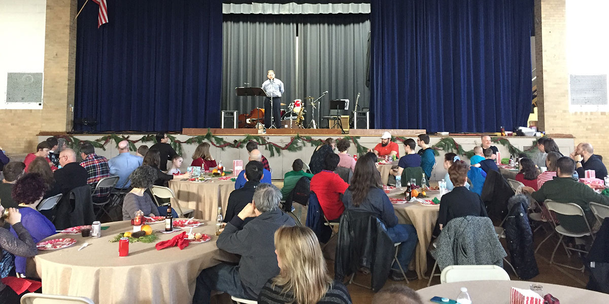 CEO Mitch gives speech at our holiday celebration