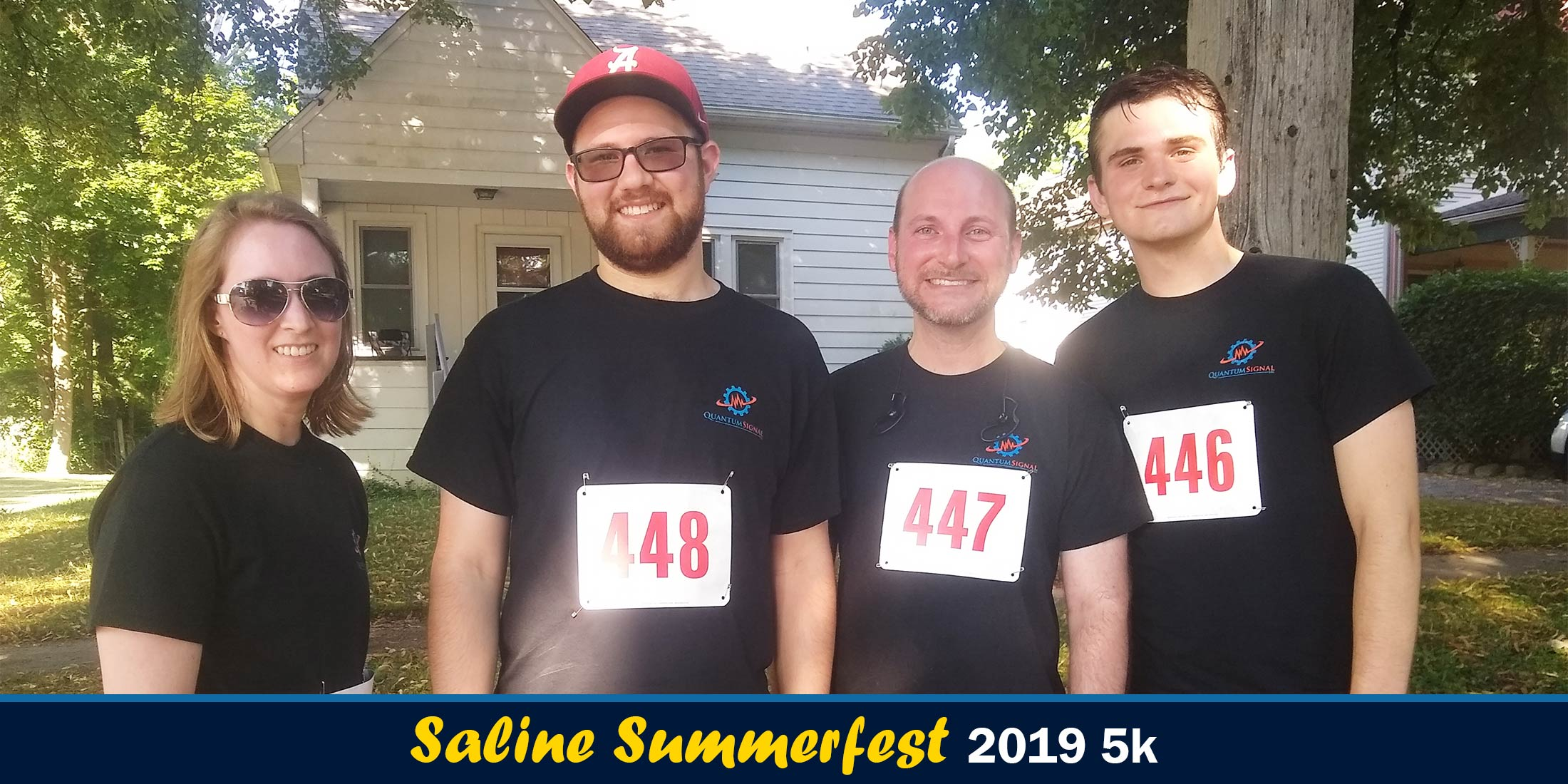 Saline Summerfest 2019 5k group photo