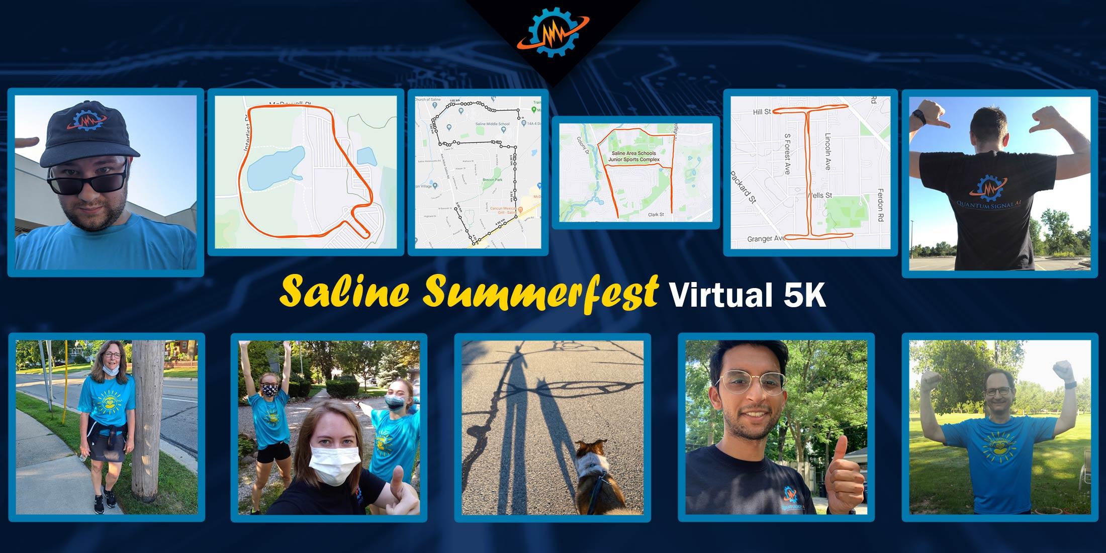 Saline Summerfest 2020 Virtual 5k selfies and race courses