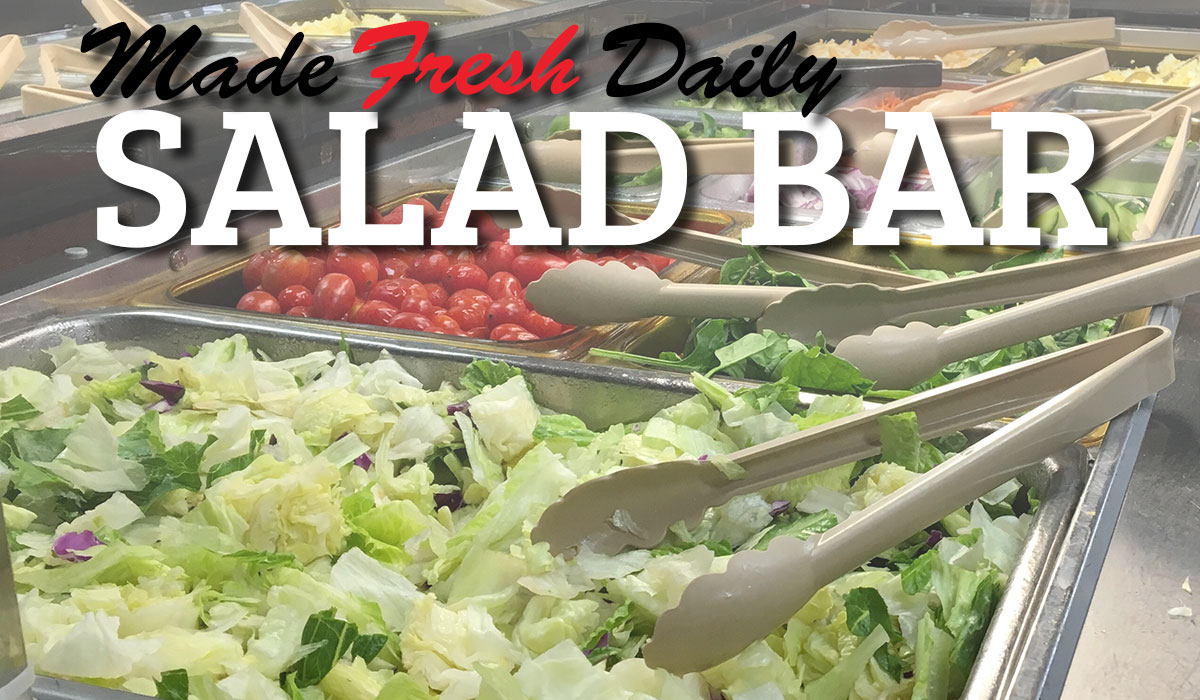 Healthy & Delicious Salad Bar Made Fresh Daily