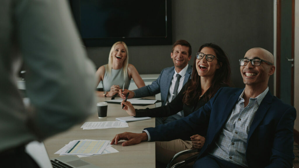 Laughter in a meeting