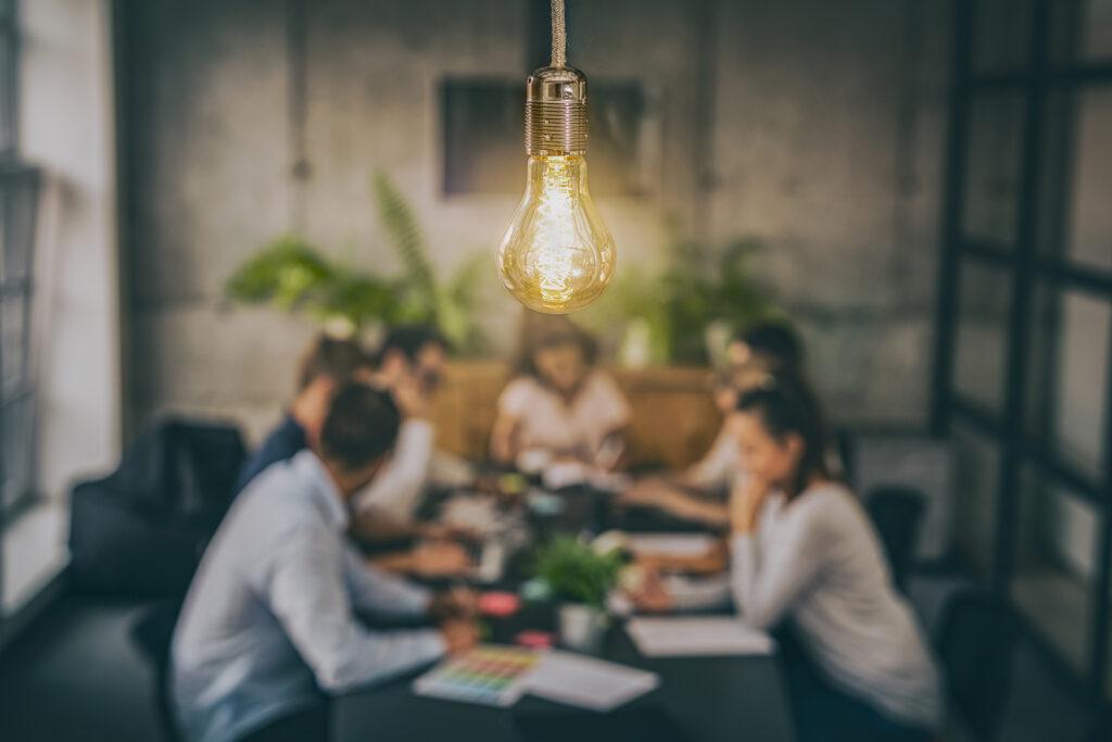Lightbulb in Boardroom