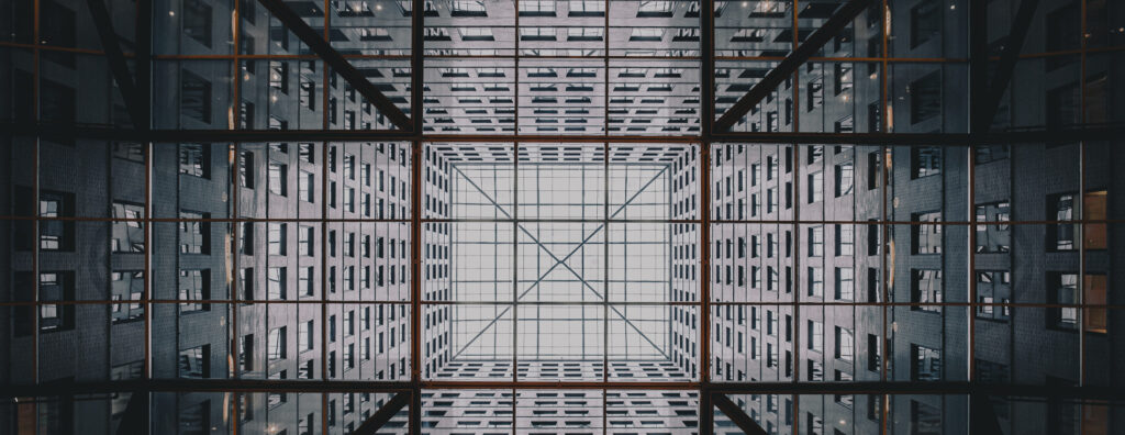 View of a building looking up