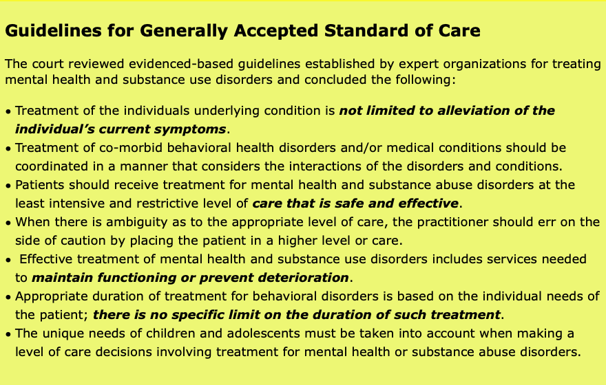 MENTAL HEALTH & AUTISM INSURANCE PROJECT