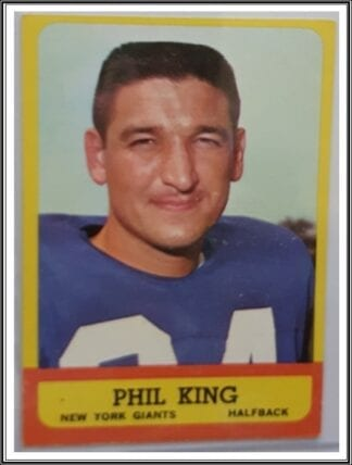 Phil King Topps 1963 New York Giants