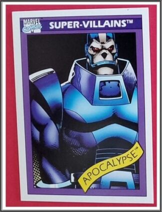 Apocalypse Marvel Comics Cards 1990