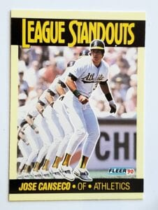 Jose Canseco Fleer 1990 League Standout