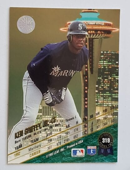 Ken Griffey Jr Leaf 1993 Back