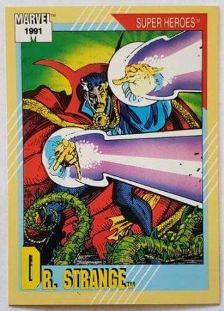 """Dr. Strange Marvel Trading Card """"Super Heroes"""" 1991 Card #44"""