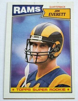 Jim Everett Topps 1987 NFL Card 145