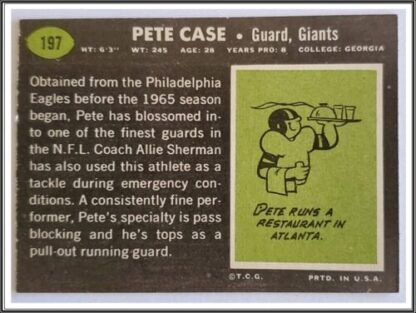 Pete Case Topps 1989 #197 Back