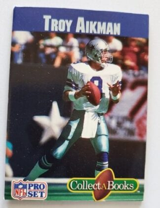 Troy Aikman Pro Set 1990 Collect A Book Dallas Cowboys