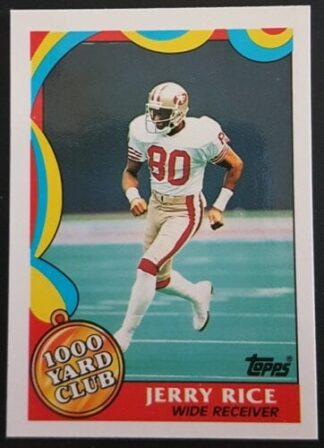 Jerry Rice 1000 Yard Club Topps 1989