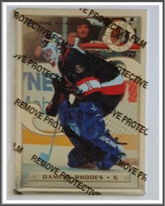 Damian Rhodes Leaf Steel 1996 NHL Trading Card #50..