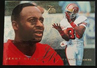 Jerry Rice Flair Preview 1995 Card #27 of 30