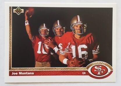 Joe Montana Upper Deck 1991 NFL Card #54