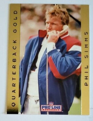 Phil Simms Pro Line 1992 Quarterback Gold #17