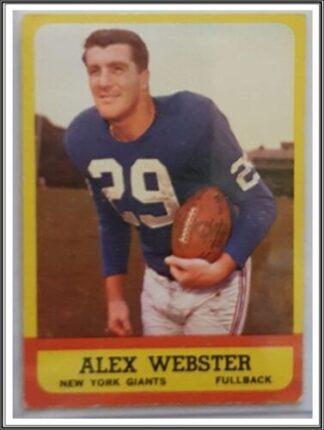 Alex Webster Topps 1963