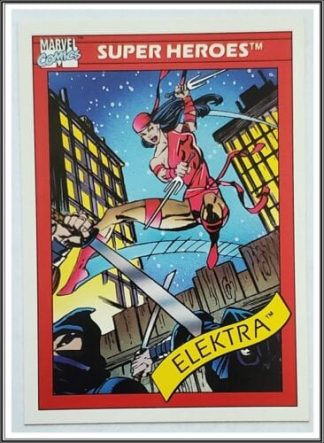 Elektra Marvel Comics Card 1990