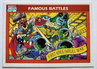 Marvel 1990 Famous Battle Card #123
