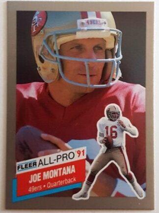 "Joe Montana Fleer ""All Pro"" 1991"