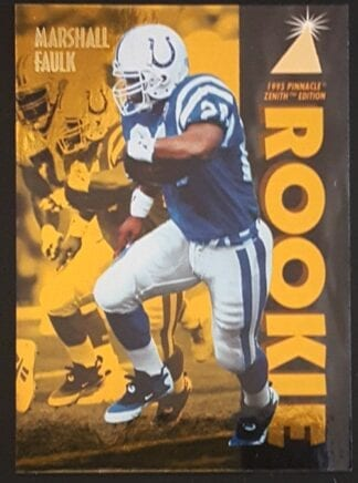 "Marshall Faulk Pinnacle 1995 Zenith Edition ""Rookie"""