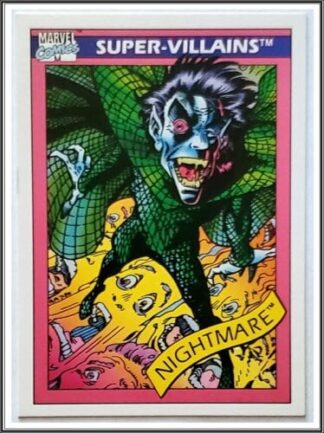 Nightmare Marvel Comics Card 1990