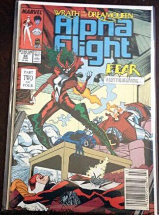 Alpha Flight March 1989 Marvel Comics Issue #68