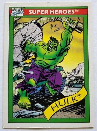 The Hulk Marvel Comics Cards 1990