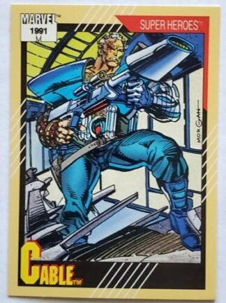 "Cable Marvel 1991 ""Super Heroes"" Card #15"