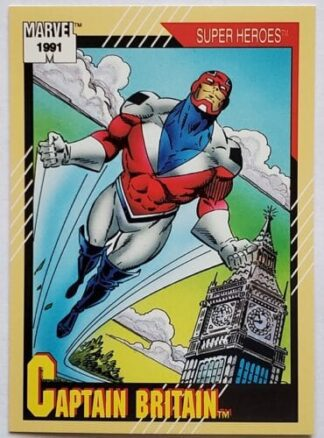 "Captain Britain Marvel 1991 ""Super Heroes"" Card #12"