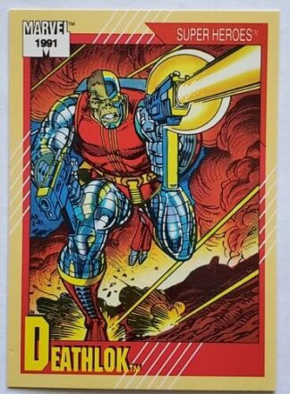 "Deathlok Marvel 1991 ""Super Heroes"" Card #16"