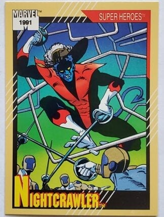 "Nightcrawler Marvel 1991 ""Super Heroes"" Card #11"