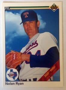 "Nolan Ryan Upper Deck 1990 ""300th Win"" MLB Card #734"