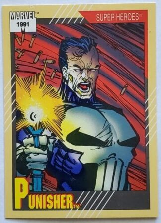 "Punisher Marvel 1991 ""Super Heroes"" Card #14"