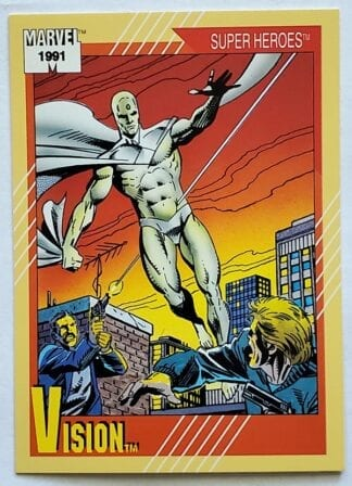 "Vision Marvel 1991 ""Super Heroes"" card #19"