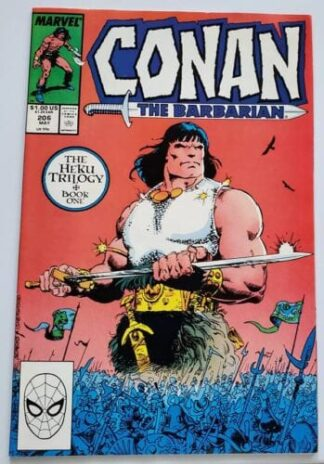 """Conan The Barbarian Marvel Comics #206 """"Sands Upon The Earth"""""""