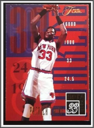 "Patrick Ewing Flair 1994 ""Hot Numbers"" NBA Sports Card #3 of 20"