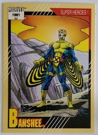 """Banshee Marvel 1991 """"Super Heroes"""" Card #36"""