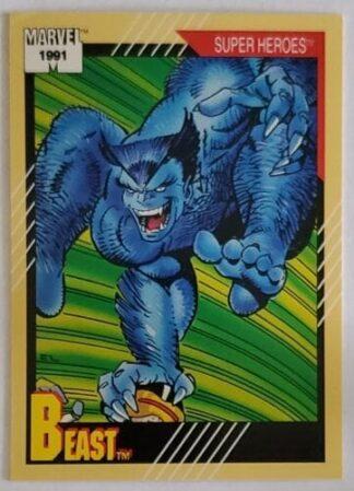 "Beast Marvel 1991 ""Super Heroes"" Card #40"
