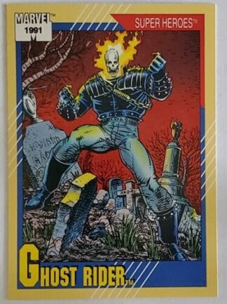 """Ghost Rider Marvel 1991 """"Super Heroes"""" Comic Card #39"""