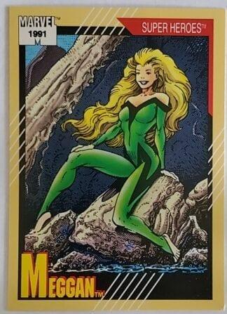 "Meggan Marvel 1991 ""Super Heroes"" Card #37"