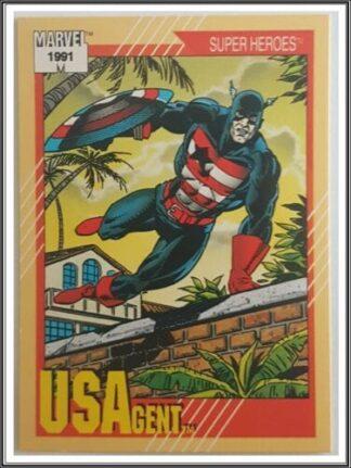 """USAgent Marvel 1991 """"Super Heroes"""" Card #35"""
