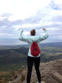 Sydney Blankinship 3,500ft up Flattop Mountain in Anchorage, AK